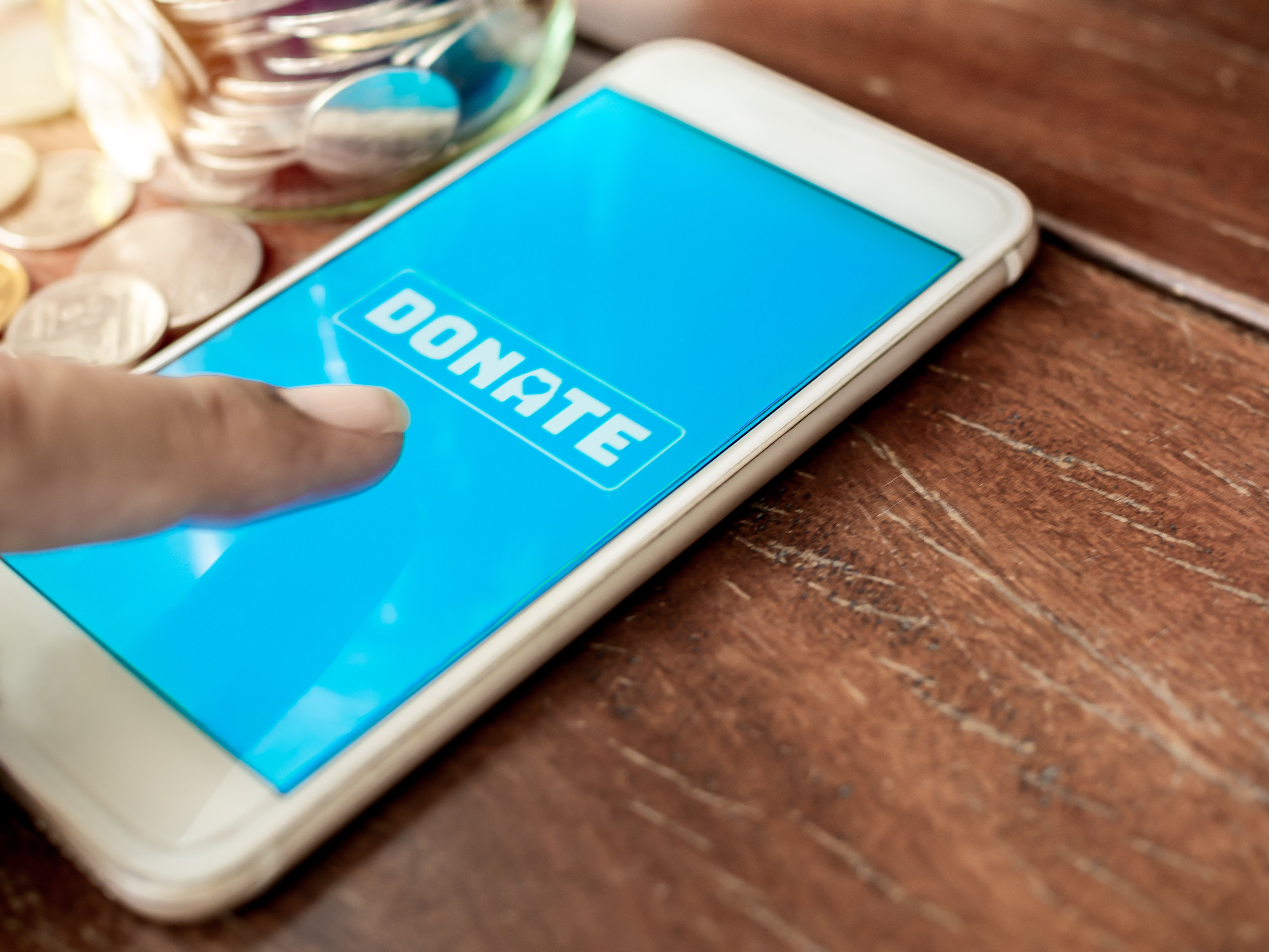Donate image mobile phone